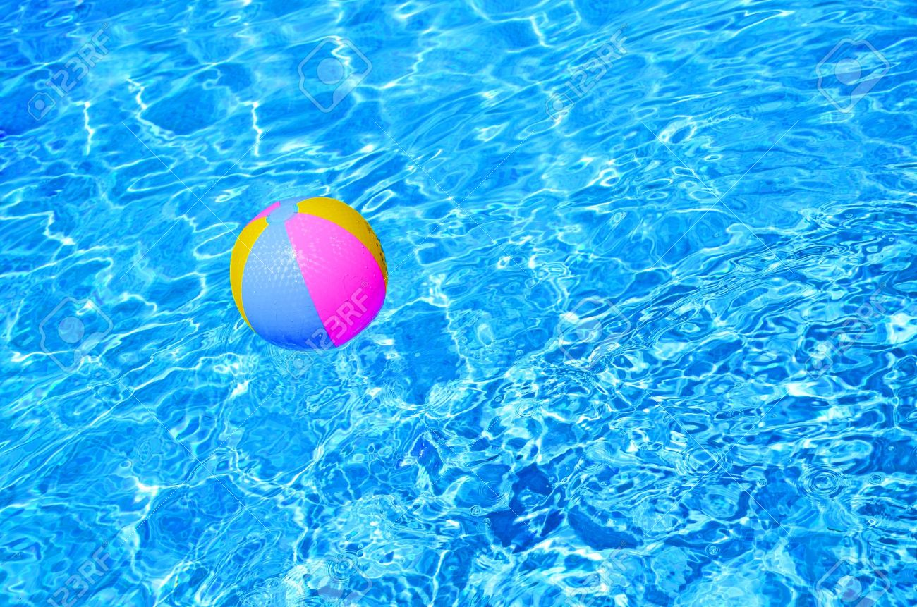 10257161-Multicolored-Beach-ball-in-swimming-pool--Stock-Photo